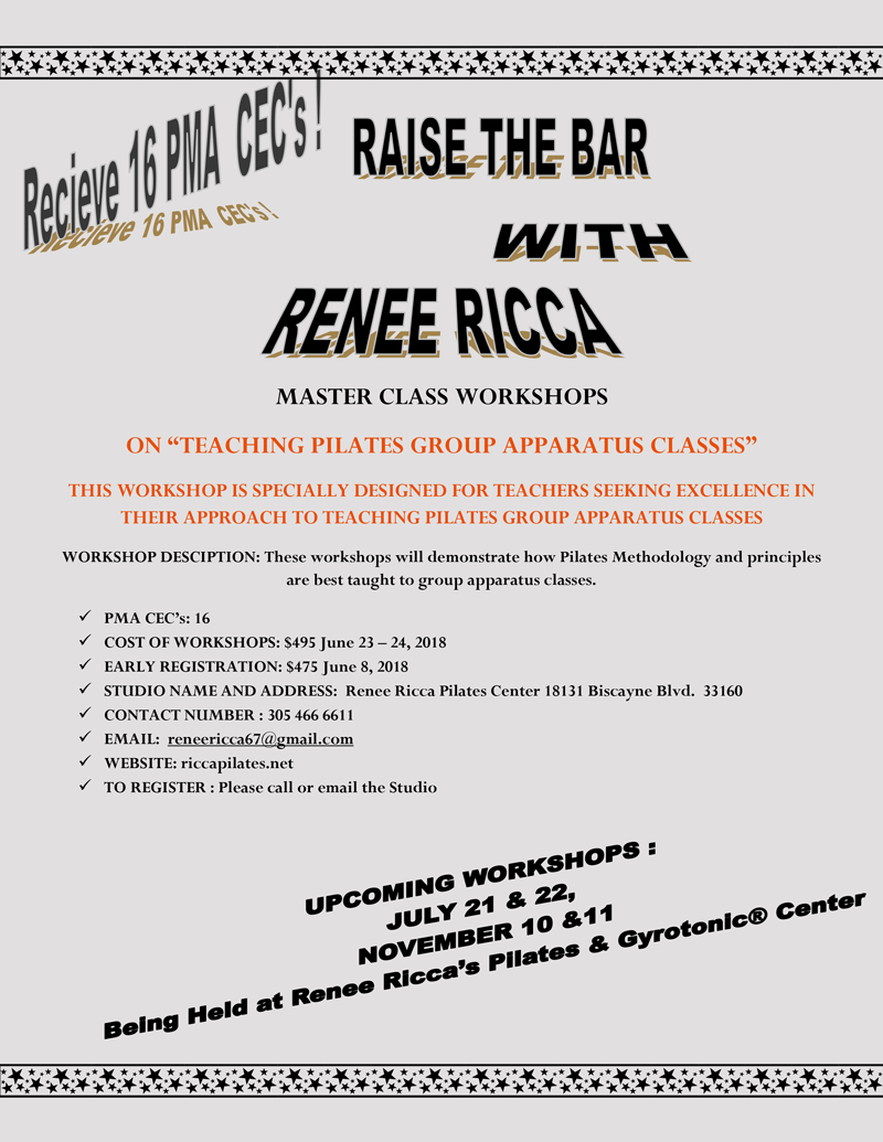 Raise The Bar with Renee Ricca Flyer